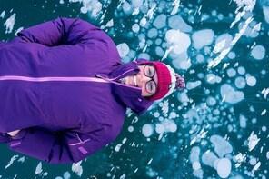 Abraham Lake Ice Walk