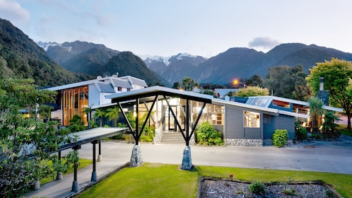 Building used in West Coast Franz Josef Glacier tour in Christchurch New Zealand.