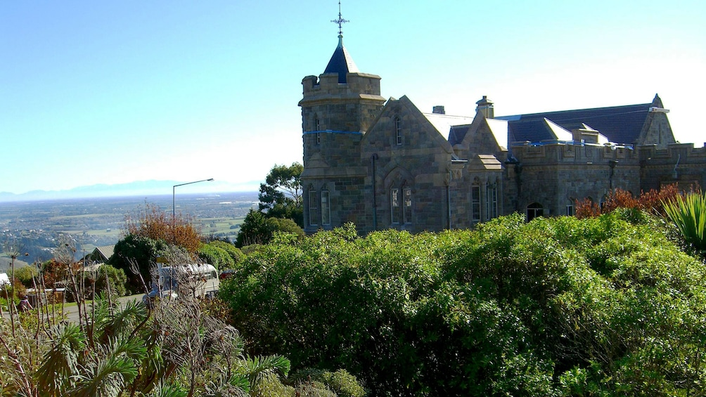 Show item 5 of 5. Church on hill in Christchurch City Tour in Christchurch New Zealand.