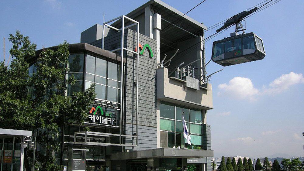 Namsan cable car in Seoul