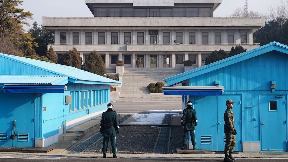 Show item 4 of 5. Joint Security Area exterior in Korea