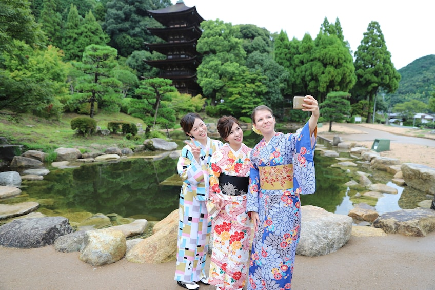 Show item 2 of 7. Kimono photoshoot in an traditional building  NOV - MAY