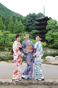 Kimono wearing in an traditional building NOV - MAY