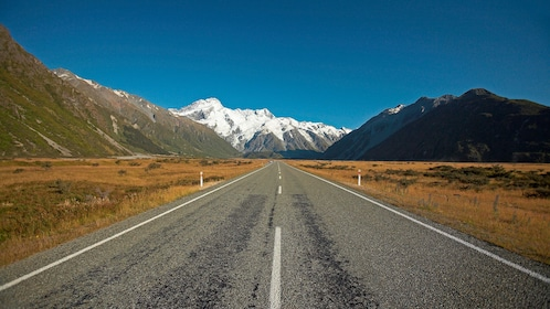 Roadway to southern circle in Christchuch New Zealand.