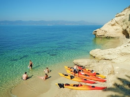 Half day sea kayak and snorkelling guided tour in Cagliari