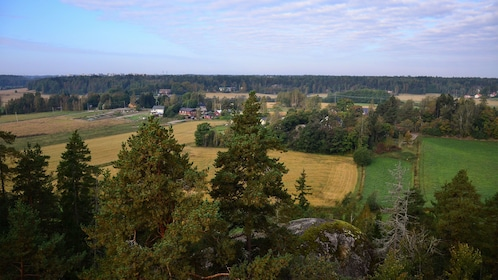 A vista looking out at farmland in Sipoonkorpi