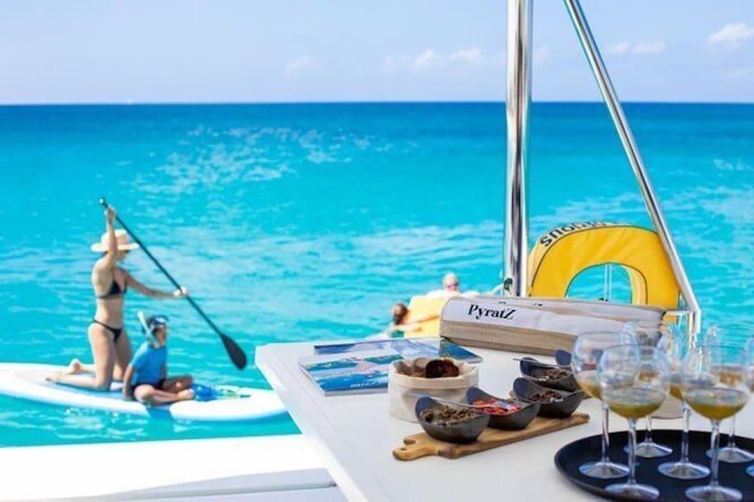 Show item 2 of 10. Full Day Cruise in Private Catamaran with 4-course Gourmet Lunch