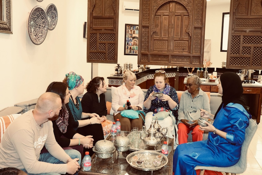 Show item 2 of 10. Moroccan Mint Tea & Bread Making Experience