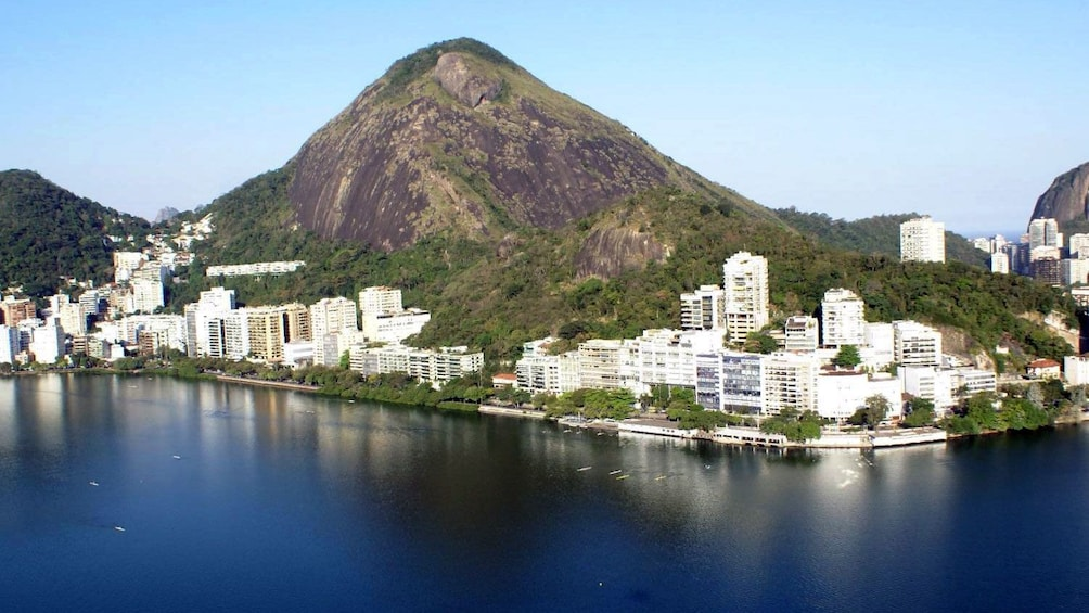 Sugarloaf mountain and waterfront buildings in Rio de Janeiro