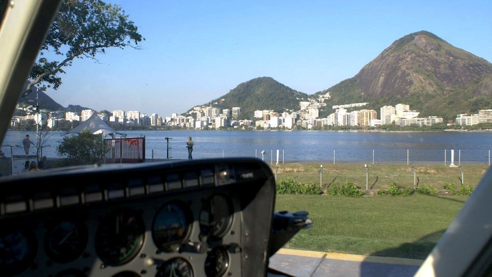 View of Sugarloaf mountain from across the Bay in Rio de Janeiro