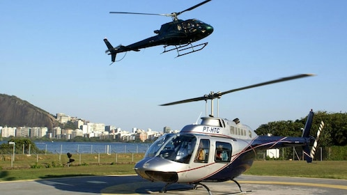 Pair of helicopters in Rio de Janeiro