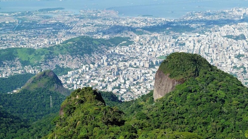 Panoramic view of Rio de Janeiro from the Tijuca Rainforest