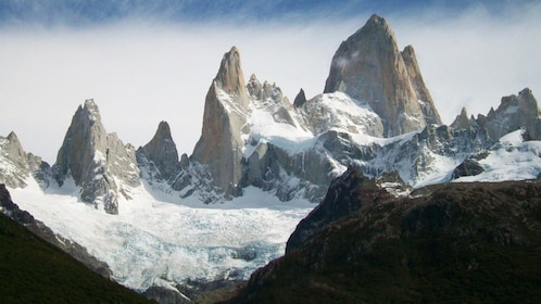 Sunning view of the icescapes in Argentina