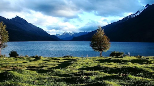 Beautiful view of the water and mountains in Argentina