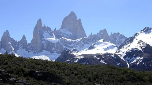 Sunning view of the icescapes in Argentina during the day