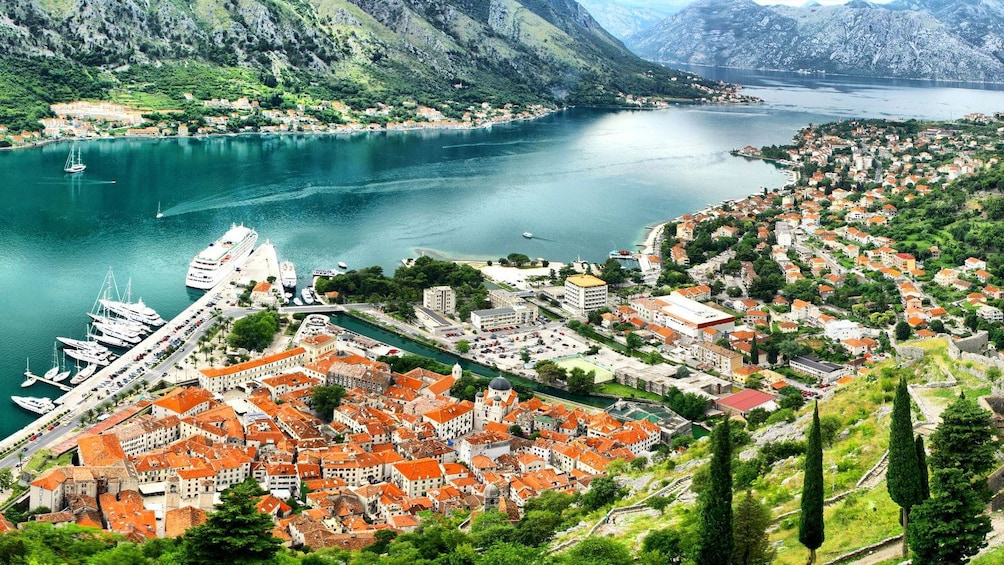 Show item 4 of 9. Scenic view of the town in Montenegro