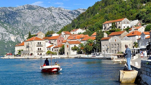 Boating at the coast of Montenegro