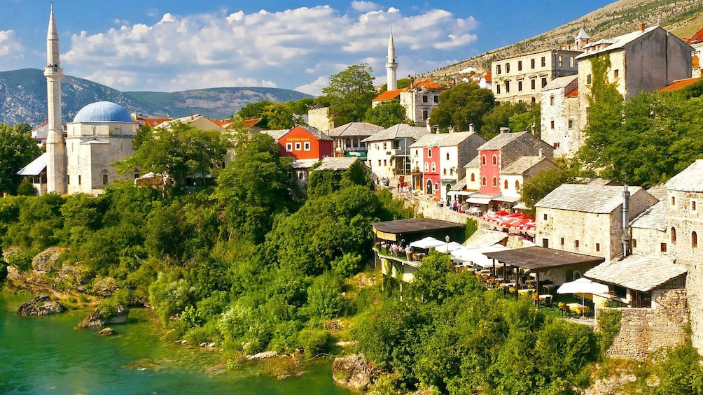 Show item 2 of 5. The hilly side of town in Mostar