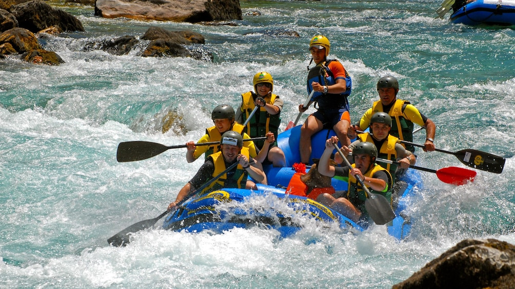 River rafters picking up speed in Dubrovnik