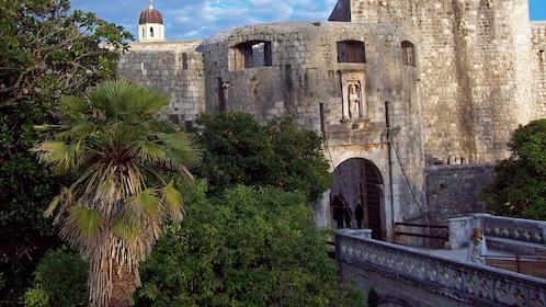 Fortified castle entrance in Croatia