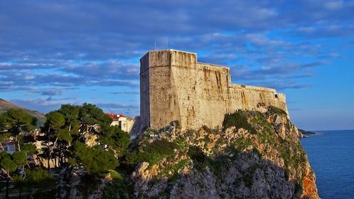 Fortified stone wall in Croatia