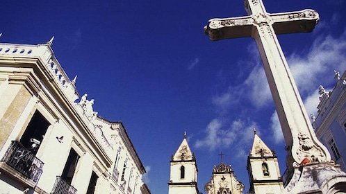 Looking up at the Cross of Sao Francisco in Salvador
