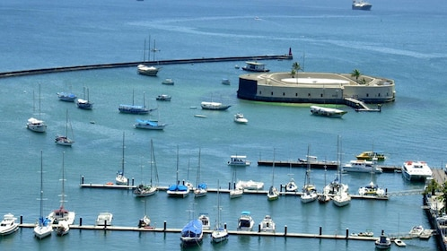 Harbor and São Marcelo Fort in Salvador