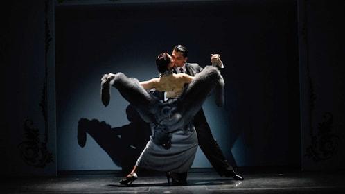 A couple performs at the Café de los Angelitos Tango Show in Buenos Aires