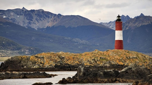 Faro Les Eclaireurs lighthouse is known as the gatekeeper for sailors heading into Antarctica