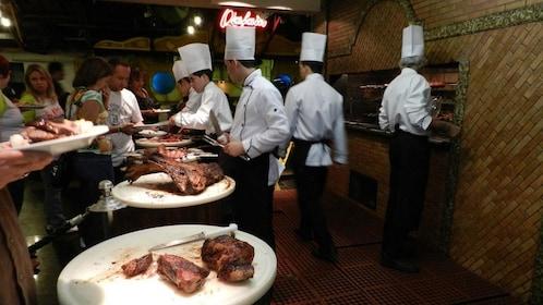 Restaurant serving slabs of meat in Iguazu