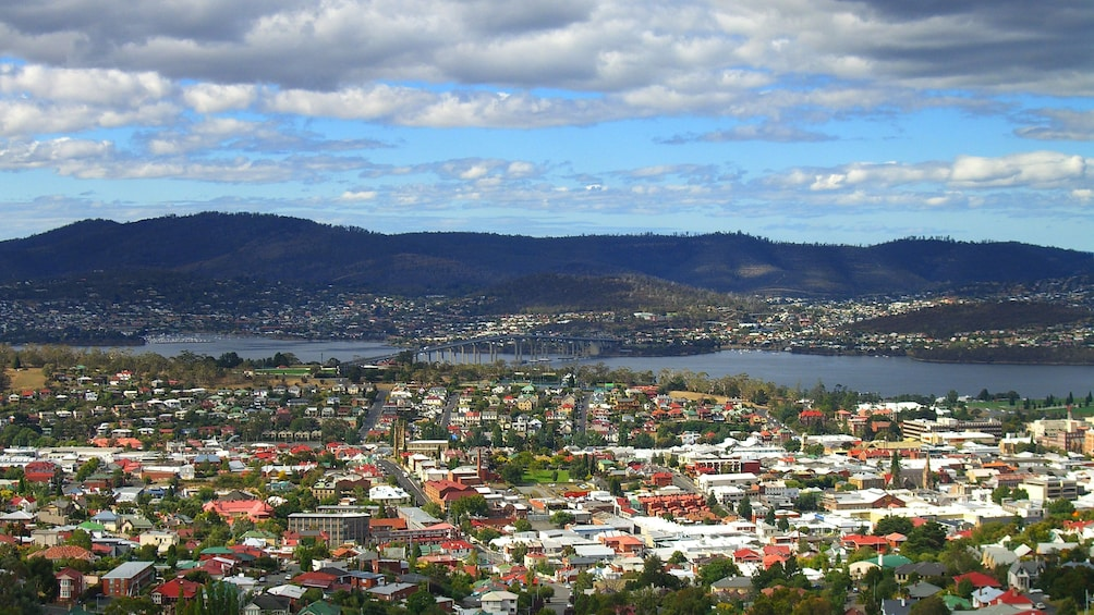 City scape on MONA with morning Hobart City Tour in Australia.
