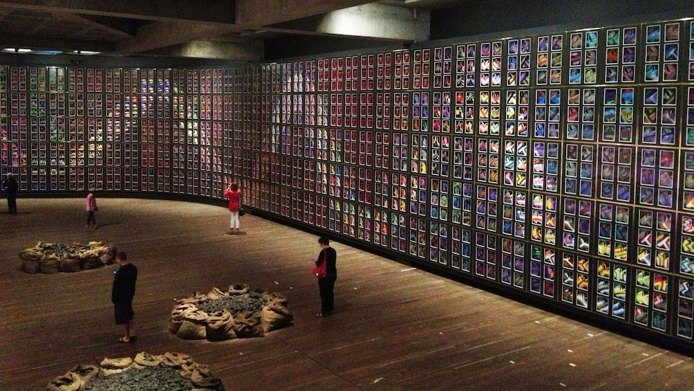 Inside the MONA, Museum of Old and New Art, in Hobart city tour in Australia.