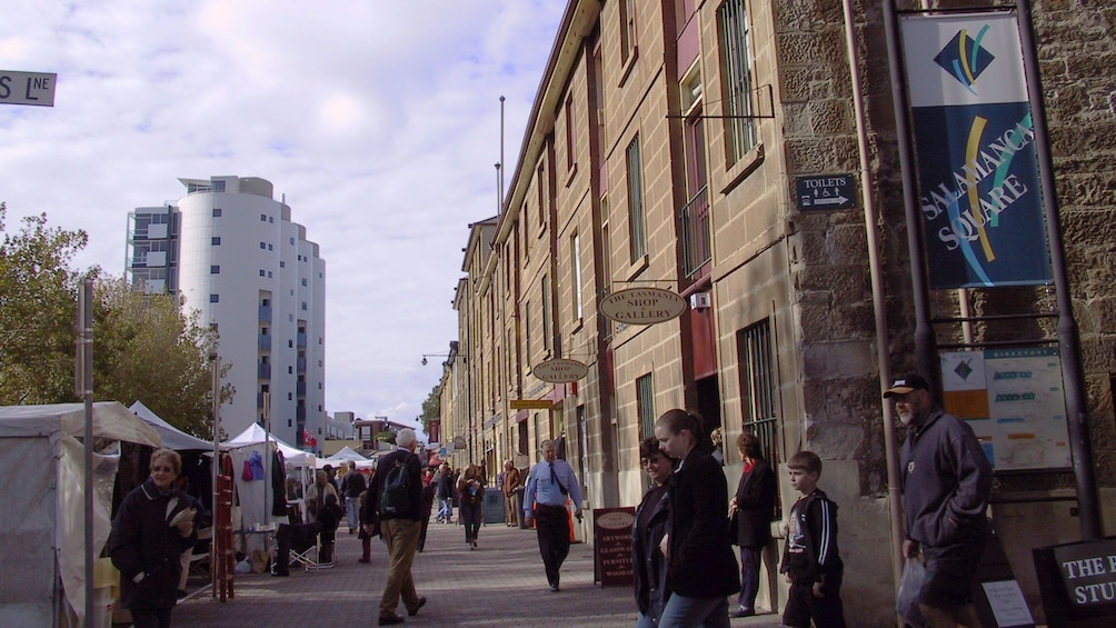 City street view on the MONA with morning Hobart City Tour in Australia.