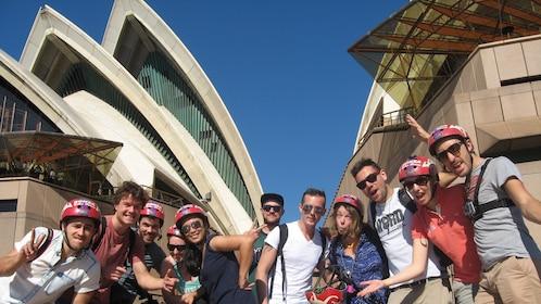 Group on Sydney classic bike tour in Australia.