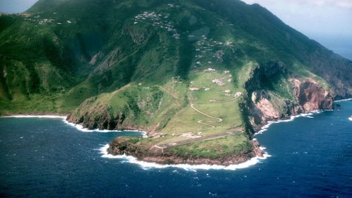 Dutch island of Saba, known for its pristine forests and clear waters
