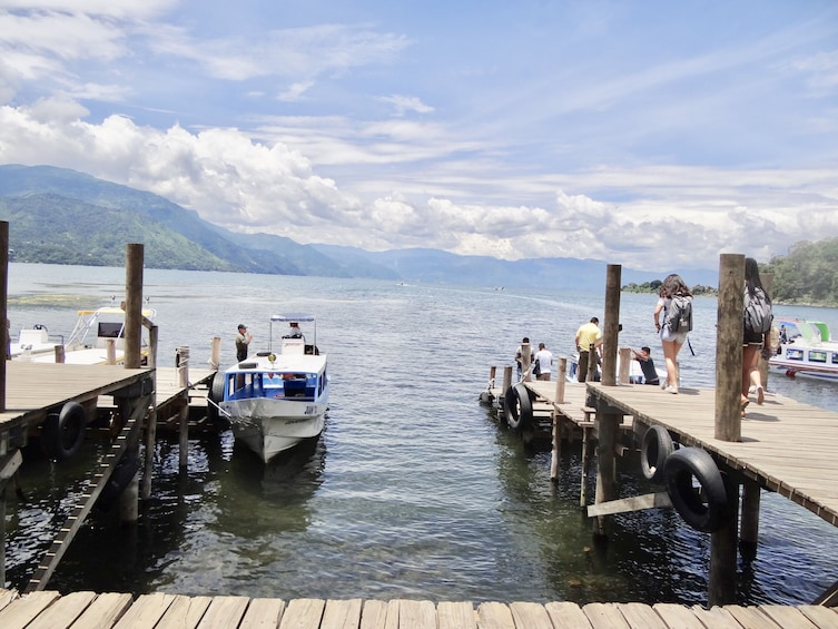 Show item 4 of 7. Atitlán Lake & Locals from Panajachel