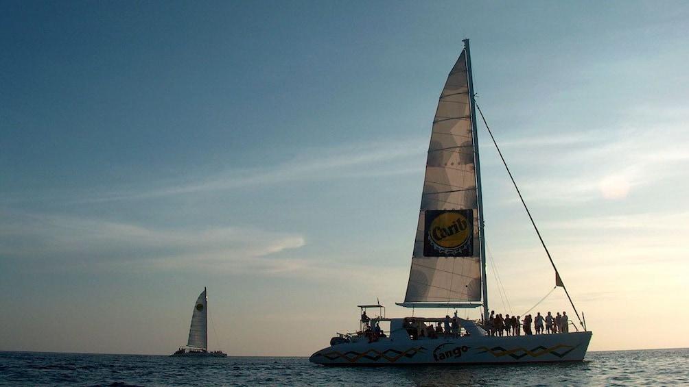 Show item 2 of 9. Tango catamaran sailing in Simpson Bay