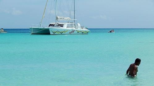 Tango catamaran on the coast of Cove Bay