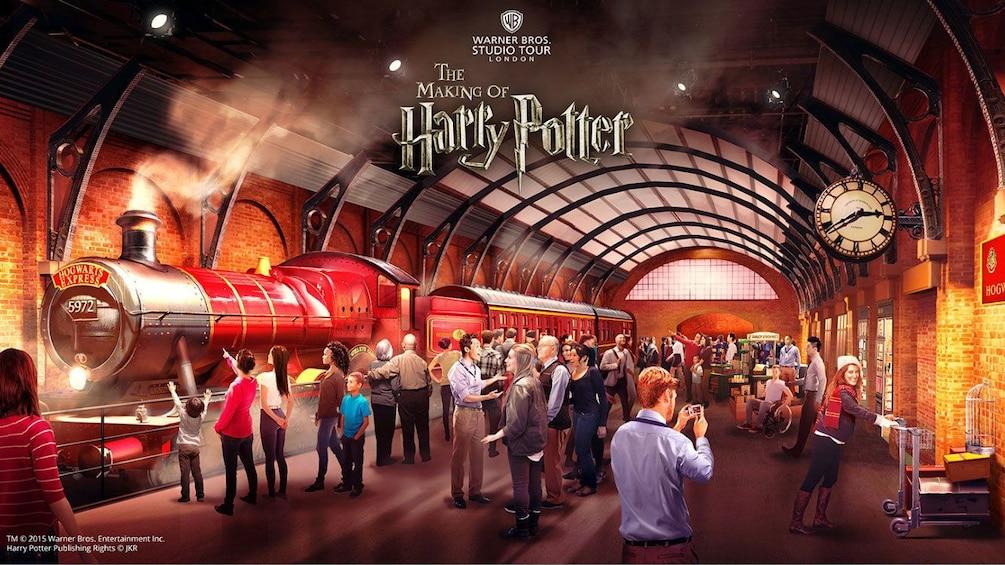 Train set of Harry Potter movie in London
