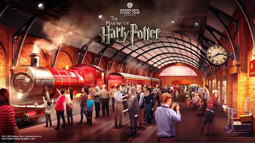 Train set of Harry Potter movie in London