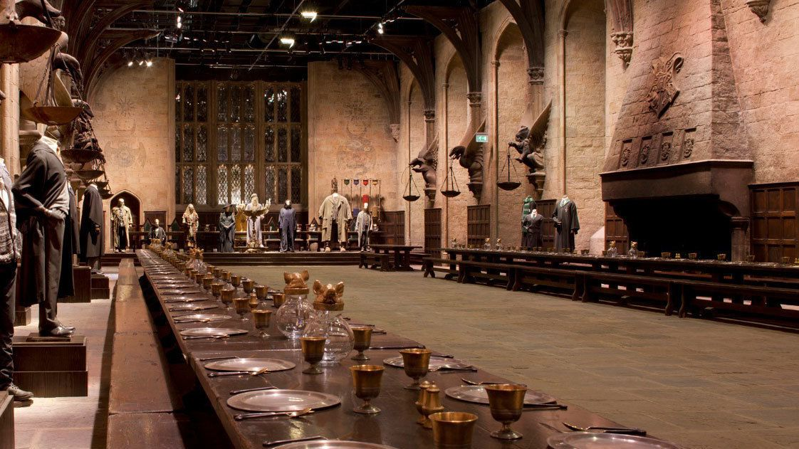 dining hall set of Harry Potter movie in London