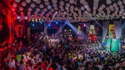 Colorful night club in Cancun