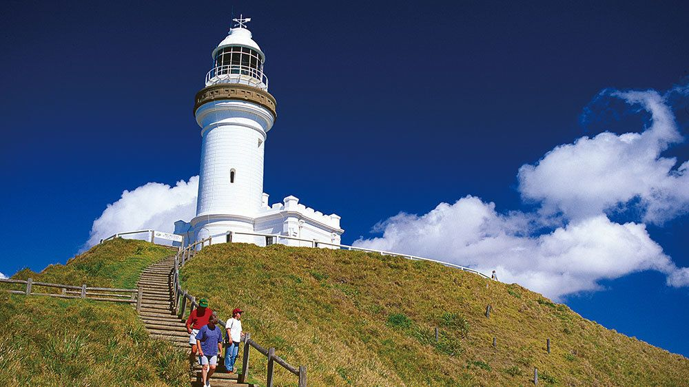 Light house on Byron Bay and Tropical Fruit World Day Tour in the Gold Coast Australia