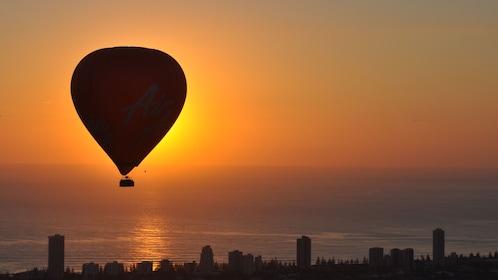 Hot Air balloon at sunrise in Gold Coast