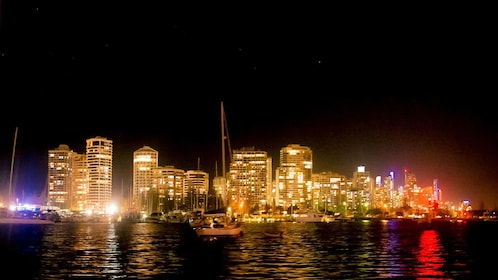 City lights on the Gold Coast Sailing Cruise with Champagne tour in Australia