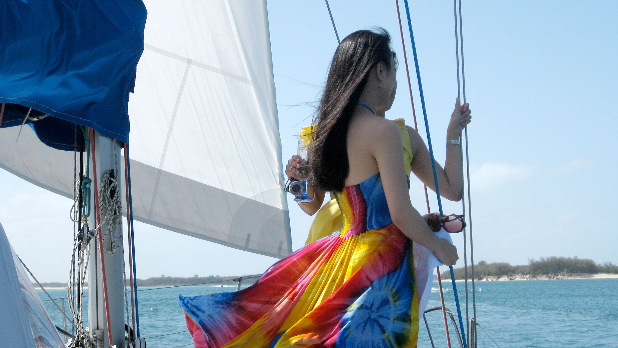 Girl on the Gold Coast Sailing Cruise with Champagne tour in Australia