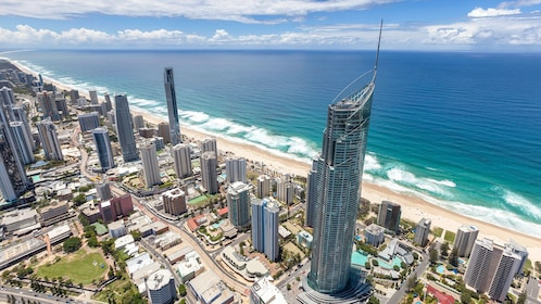 Aerial of the building use for the Sky Point Climb in the Gold Coast in Australia