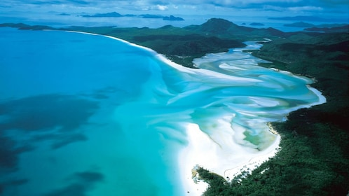 Aerial from the Whitsunday Reef and Island Flight in Australia
