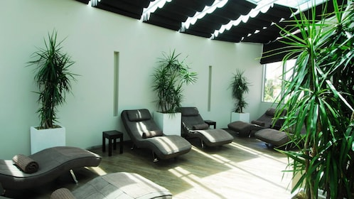 Lounge chairs in spa in Gold Coast
