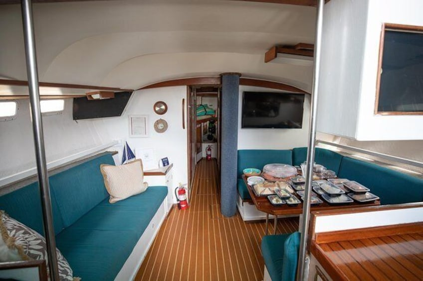 Show item 5 of 8. 3 hour private sailboat charter For up to 12 people